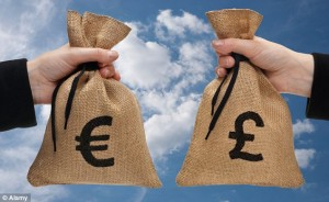 Sacks of Euros and Sterling